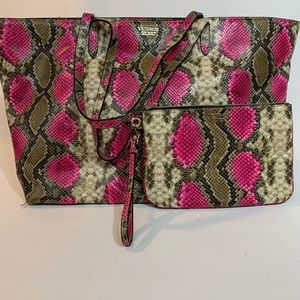 Victoria's Secret Large Tote and Small Clutch